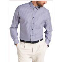 Eterna Camicia No stiro art.8982-X15P col.19 azzurro rigato