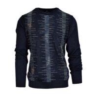 Montechiaro maglia girocollo misto lana merinos art.18127810m col.blu