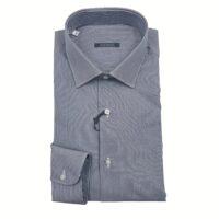 Cassera by Oscar Valentino camicia 100% cotone art.3P563 mod.Style Rigata Grigia Scura