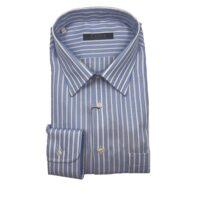 CASSERA Camicia 100% Cotone Art.1z757 MOD.Free Colore 04 Rigata Azzurra