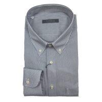 CASSERA Camicia 100% Cotone Art.X5550 MOD.Free col.15 Rigata Jeans