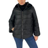 Giulia valli giaccone in ecopiuma con collo di pelliccia vera art.1r 1600